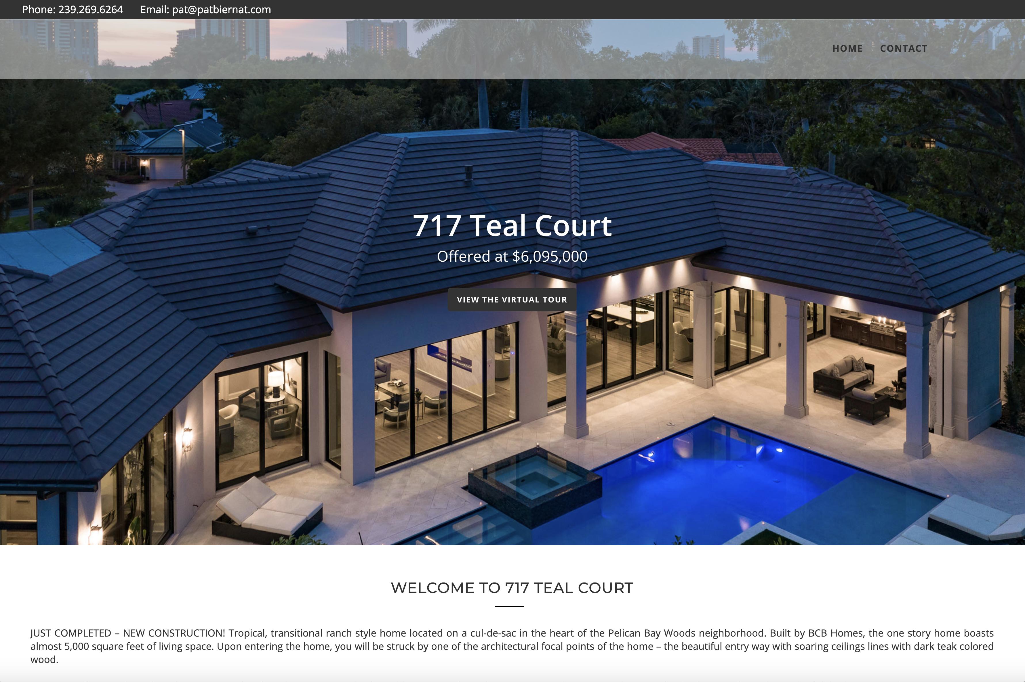 Single Property Web Site